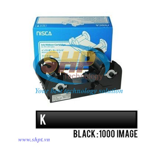 Ruy băng mực in đen Nisca PRC101